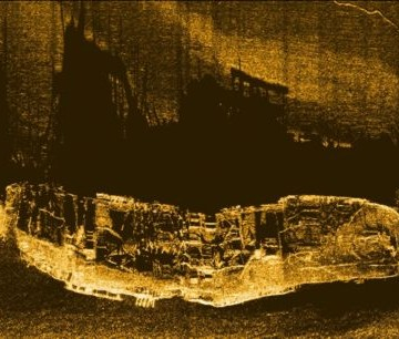 Side scan sonar record of the Volund