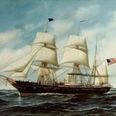 Bark rigged USS Kearsarge