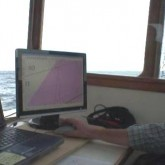 Mark Munro collecting magnetometer data