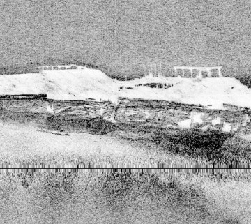 Side scan image of wreck